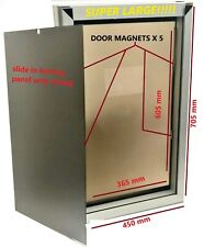 Extra Large Dog Door aluminium  (free LED novelty colar or lead)