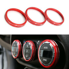 3x Red Air conditioning switch knob Cover Trim For Jeep Renegade 2015-2016 New