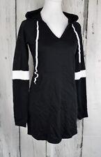 Energie Juniors' Sarai Sneaker Hoodie Tunic Top Dress Pullover Black Small S