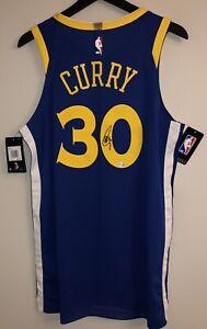 Stephen Curry Signed Warriors Nike NBA Authentic Aeroswift Auto Jersey FANATICS