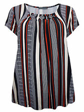 Marks and Spencer Cap Sleeve Hip Length Striped Women's Tops & Shirts