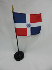 "Dominican Rep 4""x6"" Table Top Flags International Country Flag Closeout"