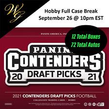 Malik Herring - 2021 Contenders Draft Fb Hobby Full Case (12bx) Break #1