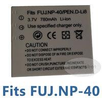 Battery for PENTAX D-Li8 DLi8 D-L18 DL18 Optio A10 A30 S4i T20 Fuji NP-40 FNP40