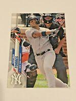 2020 Topps Baseball UK Edition Base Card - Gleyber Torres - New York Yankees