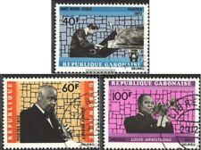 Gabon 478-480 (completa Edizione) usato 1972 Famosi Jazz