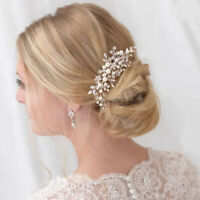 Crystal Rhinestones Pearl Women Hairpins Bridal Headpiece Hair Jewelry AU