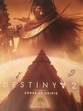 2017 PSX Destiny 2 Curse of Osiris Dev Signed Poster Playstation Experience PS4