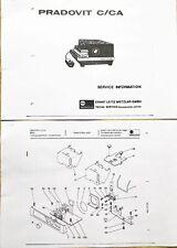 LEITZ Leica PRADOVIT C/CA Service Information/188 pagine tedesco + inglese