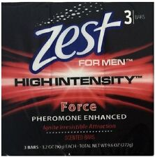 3 ZEST MEN'S HIGH INTENSITY FORCE PHEROMONE ENHANCED BAR SOAP FREE SHIPPING USA