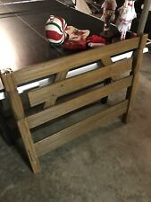 A Brandt Ranch Oak Twin Headboard