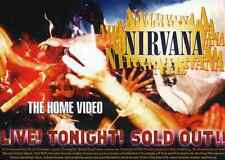 NIRVANA REPRO LIVE! TONIGHT! SOLD OUT! DVD FLYER . KURT COBAIN NEVERMIND