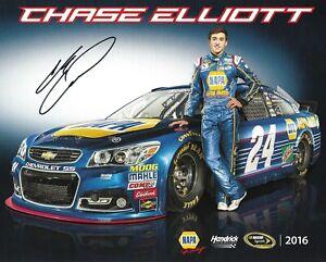 2016 Chase Elliott Napa Auto Parts NASCAR Signed Auto 8x10 Post Hero Card