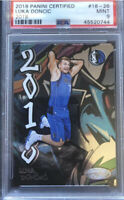"Luka Doncic RC 2018-19 Panini Certified ""2018"" GRAFFITI #18-26 Rookie PSA 9 WOW!"