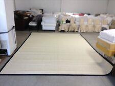 Ballard Designs Light Sisal Rug Indoor Area Carpet Rug Black Border 10x14