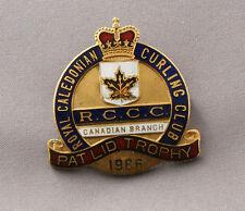 Royal Caledonia Curling Club  Trophy Pin Canada Nice Enamelling