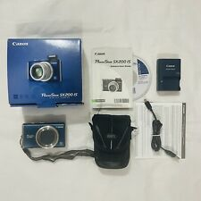 Canon PowerShot SX200 IS 12.1 MP Digital Camera Bundle Excellent Condition
