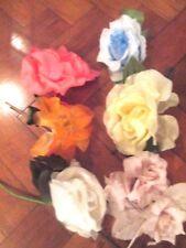 Vintage Millinery Flower Cluster of5 Orange Yellow KH5