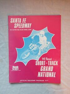 1976 Santa Fe Speedway Willow Springs IL Motorcycle Program AMA Grand National