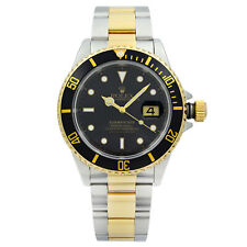 Rolex Submariner 40mm Holes 18K Holes Steel Black Dial Automatic Men Watch 16613