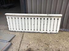 "21.5' c1900 flat sawn porch railing balustrade FANCY flower motif cutout 28"" H"