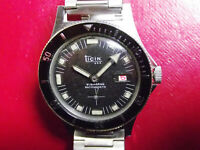 TICIN SUBMARINE - VINTAGE DIVER STYLE MECHANICAL DATE - SWISS MADE