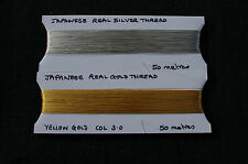 REAL GOLD+SILVER THREAD 100m, 50metres OF EACH. SPECIAL OFFER PACK. GOLDWORK