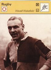 RUGBY carte joueur fiche photo WAVELL WAKEFIELD ( ANGLETERRE )