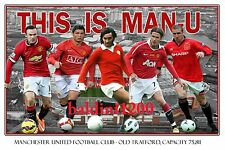 MANCHESTER UNITED FOOTBALL CLUB PHOTO COLLAGE - RONALDO - LOOKS AWESOME FRAMED