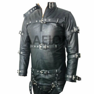 Men's Genuine Leather Heavy Duty Straitjacket With Leather Straps Straitjacket