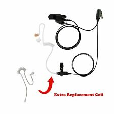 Extra Tube With Flexible 1 Wire Clear Coil Headset For Motorola Xts2000 Xts1500