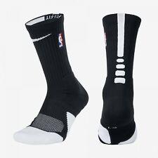 NBA Nike Elite 1.5 Cushioned Crew Black White Basketball Socks SX5867-010