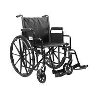 "McKesson Wheelchair Steel 20""W x 16""D Swing-Away Footrest 146-SSP220DDA-SF"
