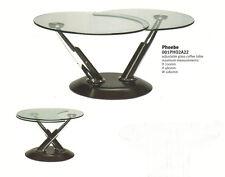 Dar Lighting Phoebe Designer Adjustable Stylish Glass Coffee Table