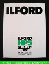 NEW ILFORD  HP5 PLUS  (25)   SHEETS   OF 5 X 4  FILM (APRIL 2020)