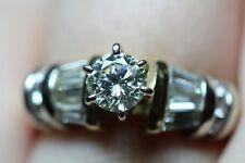 $7,900 1 1/2 1.5 Carat Round Natural Diamond .65Ct Solitire 14K Engagement Ring