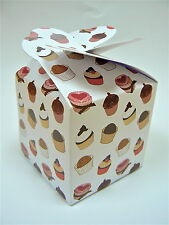 LARGE Printed Cupcake muffin boxes,wedding favour (pack x10)sweet box,  C2