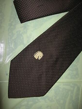 Mens Brown Dot Tie Necktie Via Venetto (4288) FREE US SHIP
