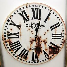 """RUSTIC LOOKING ROUND WALL CLOCK  """"OLD TOWN"""" -15.5"""" WIDE -UMA-52592 OT"""