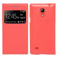 Housse Etui Coque Plastique View Case ROUGE Samsung Galaxy S4 mini i9190 i9192