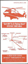 Airspur Helicopters system timetable 6/15/1984 [8051] Buy 2 Get 1 Free