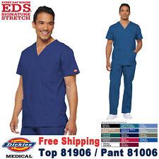 Dickies Medical Men/'s EDS Signature Collection Royal Blue Utility Top Sz S-XXL