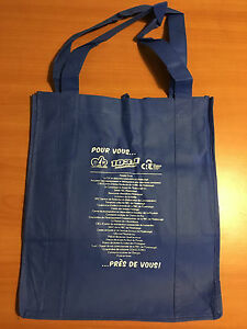 LOT OF 20 TOTES BLUE PROMOTIONAL 13x14x9""
