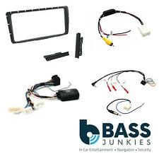 CTKTY10 Double DIN Fascia Stereo Fitting Kit Black for Toyota HILUX 2012-2015