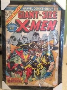 STAN LEE FRAMED HAND SIGNED+FRAMED 23x35 X-MEN RETRO POSTER    AWESOME+VERY RARE