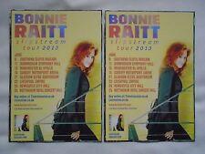 "BONNIE RAITT Live in Concert ""Slipstream"" 2013 UK Tour Promo tour flyers x 2"