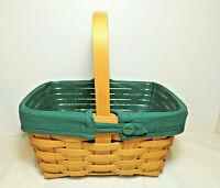 LONGABERGER 2002 Spring Basket Combo w Fabric Liner Protector Wood Divider EUC