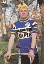 CYCLISME carte cycliste THIERRY DEGASPERI  équipe VAN DE VEN SAFIR 1983