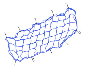 "Cargo Net 15""x30"" Coated Steel Hooks Arctic Cat Snowmobile ATV SXS UTV Blue"