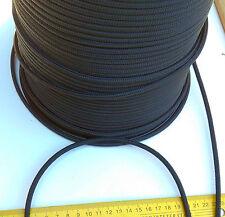 20m X 5mm BLACK DOUBLE BRAID WITH DYNEEMA® CORE, YACHT & MARINE ROPE tens:1300kg
